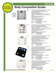 Taylor Body Comp Large Display 5599-4192 User Manual