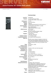 Extra Computer exone Proxima 1811 E5420 RAID 45444 User Manual