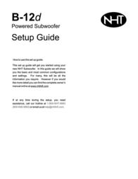 NHT b-12d User Manual