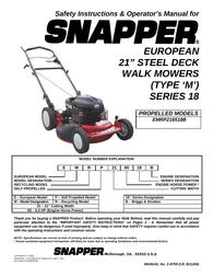 Snapper EMRP216518B User Manual
