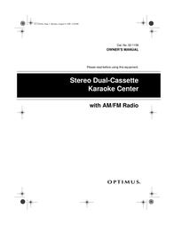 Optimus 32-1159 User Manual