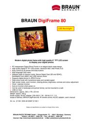 Braun Photo Technik Digiframe 80 21163 Leaflet