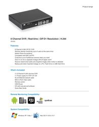 Q-See QS408 QS408-403-5 Leaflet