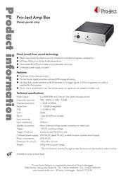 Pro-Ject Amp Box 3081020007 Leaflet