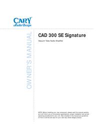 Cary Audio Design CAD 300 SE User Manual