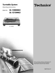 Technics SL-1210MK2 User Manual