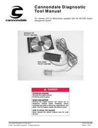 Cannondale diagnostic tool User Manual