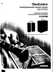 Technics SB-FW50 User Manual