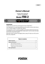 Fostex RM-2 User Manual