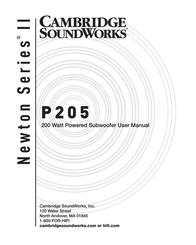 Cambridge SoundWorks P205 User Manual