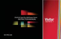 Vivitar DSLR AF Flash Pro 648 Power Zoom VIV-PRO-648 User Manual
