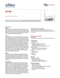 Silex SX-500-0033 E1025 Leaflet