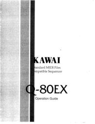 Kawai Standard MIDI Files Compatible Sequencer Q-80EX User Manual