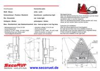 Secoruet SecoRüt LED Dreieck Anhängerleuchte Rechts · Blinklicht · Schlusslicht · Bremslicht · Rückstrahl 95326 Data Sheet