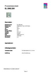 Rittal EL 2092.200 2092.200 Data Sheet