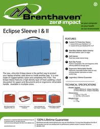 Brenthaven Eclipse I Steel Blue 2169101 Leaflet