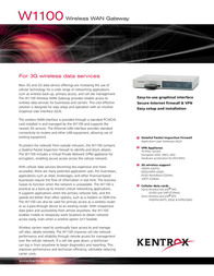 Kentrox W1100 Leaflet