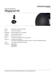 Scandyna Megapod Upgrade Kit MEGPKITB16006103 Merkblatt