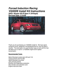 Nissan VQ35DE User Manual