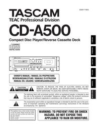 Tascam CD-A500 User Manual