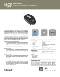 Adesso iMouse S100 IMOUSE S100 Leaflet