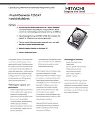 Hitachi DESKSTAR 120GXP 40GB IC35L040AVVA07 Leaflet