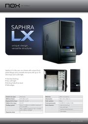 NOX Sapphira LX NX-SAP-LX Leaflet