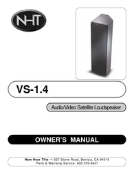 NHT Vintage VS-1.4 User Manual