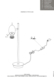Wofi Quincy GU10 Chrome Table Lamp 8116.01.01.0000 Data Sheet