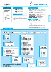 Eledis Pushbutton 230 Vac 0.5 A 1 x On/(On) 5A11-F3STSE-B0 momentary 1 pc(s) 5A11-F3STSE-B0 Data Sheet