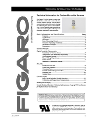 Figaro TGS2442-B00 TGS 2442 Gas Sensor For Carbon Monoxide Carbon monoxide (Ø x H) 9.2 mm x 12.7 mm TGS2442-B00 Data Sheet