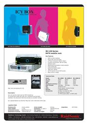 ICY BOX SATA Mobile Rack, ICY BOX 20022 전단