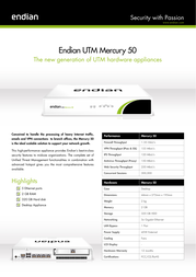 Endian Mercury 50 Firewall Router Specification Guide