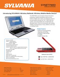 Sylvania SYNET7WID Leaflet