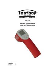 Testboy TV 322 Infrared Thermometer Optics 8:1 -20 to +380 °C Testboy TV 322 User Manual