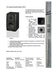 Elac BS 52 31481 Leaflet