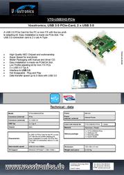 Vosstronics VTG-USB3H2-PCIE Leaflet