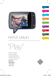 "Native Union ""Play"" video-memo PLAY-BLK-1 User Manual"