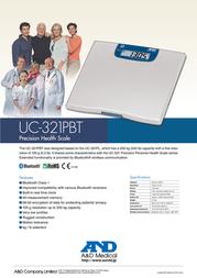 A&D UC-321PBT UC-321PBT-C40 Leaflet