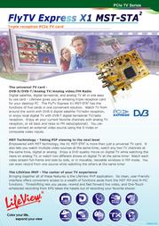 LifeView FlyTV Express X1 MST-STA2 LR860 Leaflet