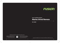 Fusion Electronics Marine Radio MS-WR80 Leaflet