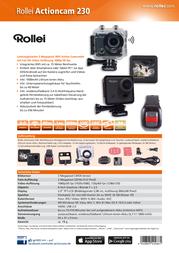 Rollei Actioncam Action Cam 5040286 5040286 5040286 Data Sheet