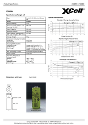 Xcell N battery (rechargeable) NiMH X500NH 500 mAh 1.2 V 1 pc(s) 135369 Data Sheet