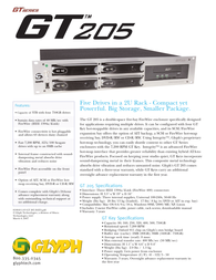Glyph gt205-1000 Specification Guide