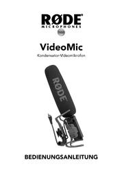 Rode Microphones RODE VIDEO MIC RYCOTE MIKROFON 600.200.012 User Manual