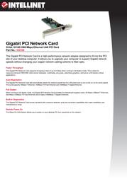 Intellinet Gigabit PCI Network Card 522328 User Manual