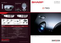 Sharp Home Cinema DLP SVGA XV-Z90E Leaflet