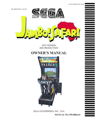 SEGA 999-0886-01 User Manual