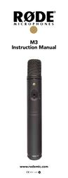 Rode Microphones RODE M3 INSTRUMENTEN-MIKROFON 400.400.010 Data Sheet