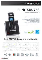 SwissVoice Eurit 748 HSCB 20404914 Leaflet